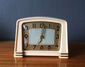 Old Jaz Cavic alarm clock - 1956 - in bakelite, Art Deco style