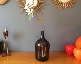 Bonbonne en verre ambré – Dame Jeanne – Jarre – Capacité 5L - Déco vintage