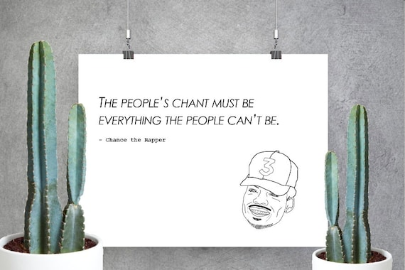 Chance The Rapper Print Custom Coloring Book Acid