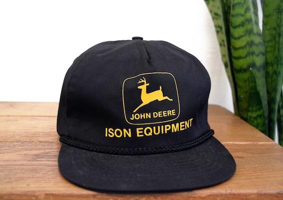 216d165c Vintage JOHN DEERE Old Logo Ison Equipment Black and Yellow | Etsy