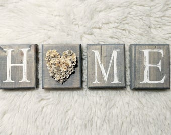 Home tiles with Paper flower Hearts