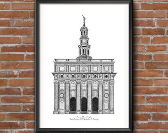 Nauvoo Temple, Stippling style