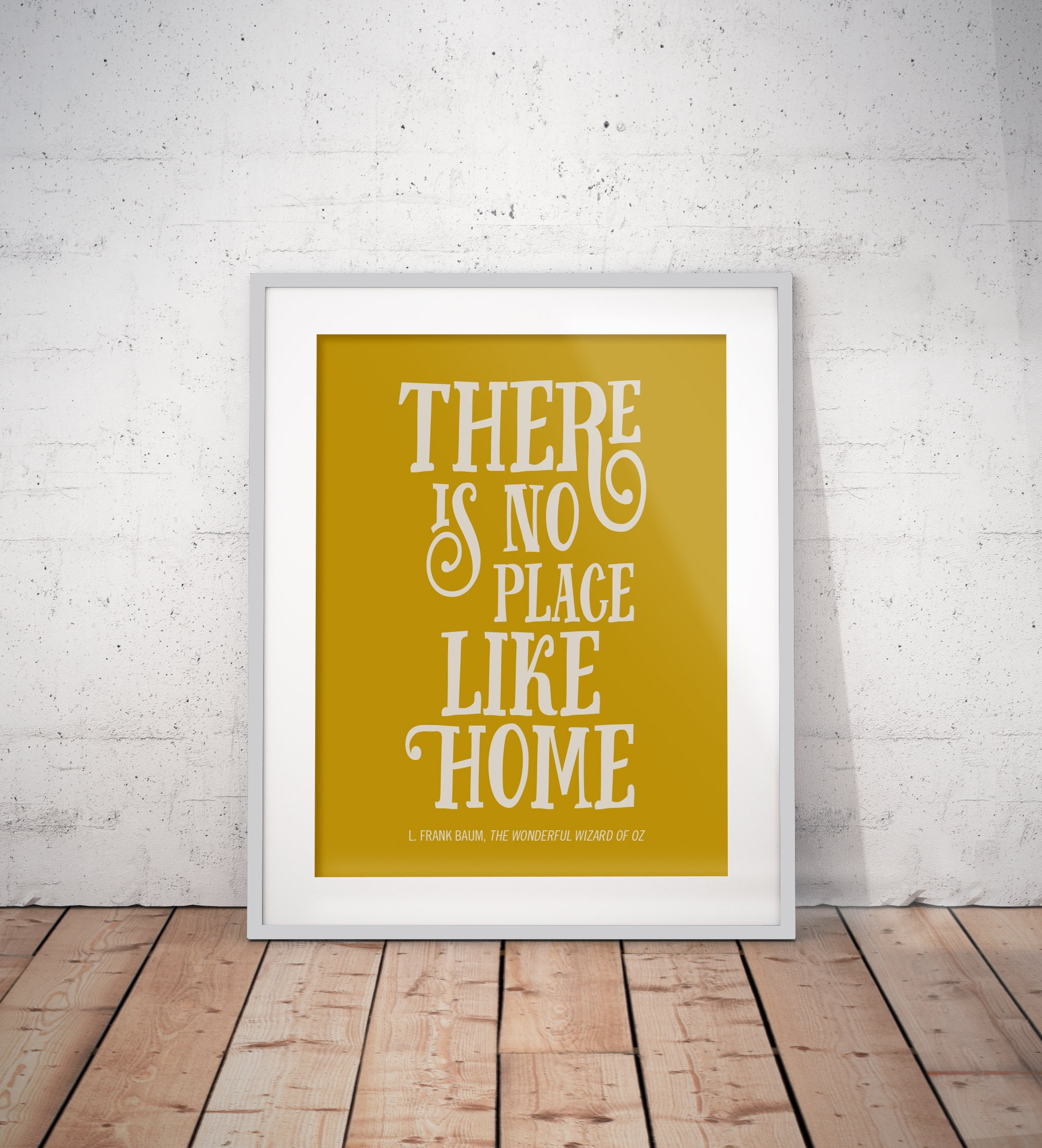 Digital Download Art Printable Quote Poster No Place