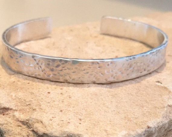 Hammered sterling silver cuff bracelet, cuff bracelet, hammered sterling silver bracelet, sterling silver cuff, hammered cuff bracelet