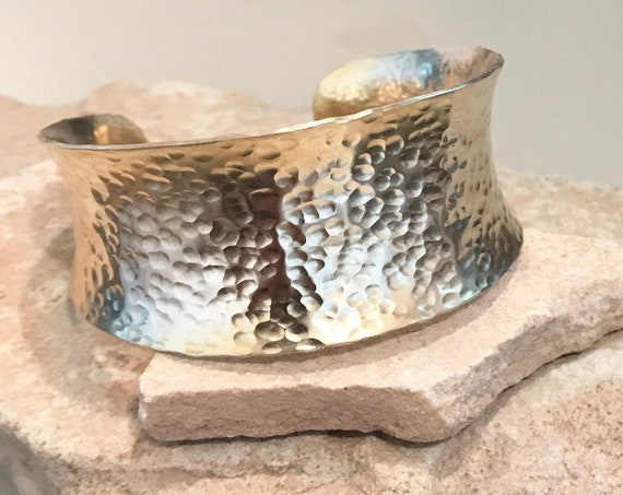 Hammered brass anticlastic cuff bracelet, cuff bracelet, brass fashion bangle, bangle bracelet, gift for her, gift for wife, boho chic