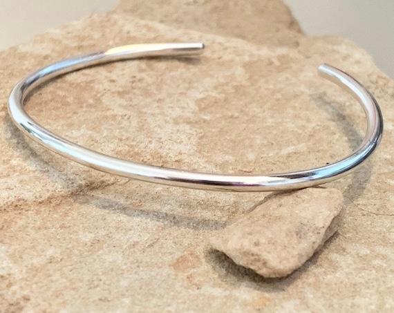 Sterling silver cuff bracelet, delicate cuff bracelet, stackable silver bracelet, simple bracelet, silver bracelet, boho chic, gift bracelet