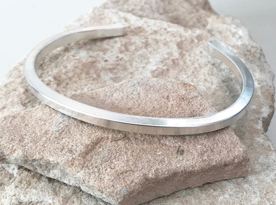 Sterling silver cuff bracelet, cuff bracelet, stackable sterling silver bracelet, stackable bangle, silver bracelet, gift for her