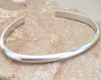 Sterling silver cuff bracelet, silver bracelet, stackable sterling silver bracelet, stackable bracelet, simple bracelet, gift for her