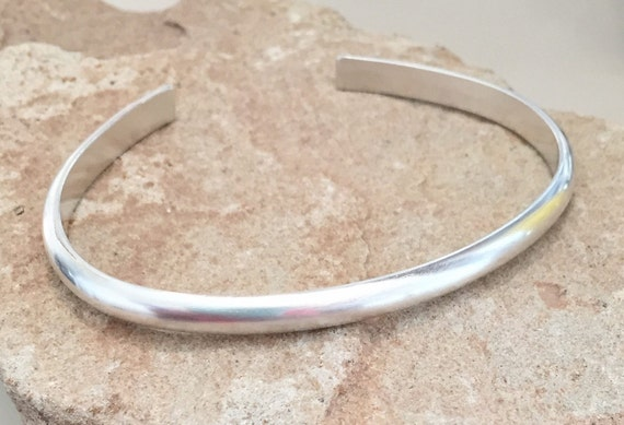 Sterling silver cuff bracelet, silver bracelet, stackable sterling silver bracelet, stackable bracelet, simple bracelet, gift for her