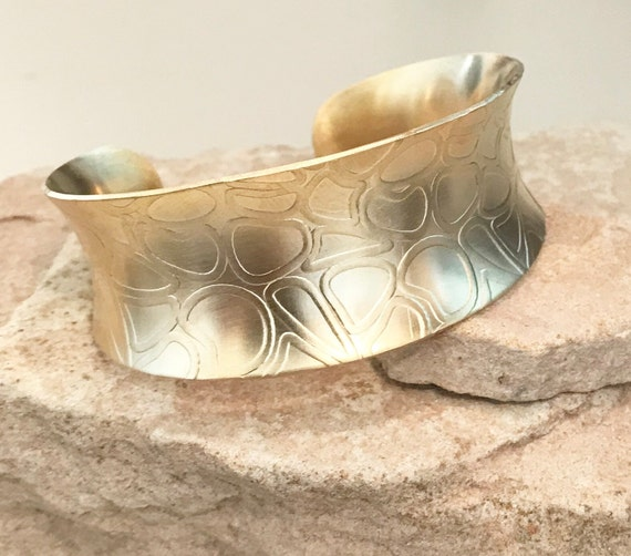 Brass anticlastic cuff bracelet, cuff bracelet, patterned bracelet, fashion bangle, bangle bracelet, gift for her, gift for wife, boho chic
