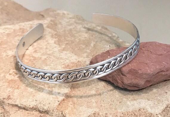 Sterling silver pattern cuff bracelet, patina cuff bracelet, stackable sterling silver bracelet, silver cuff, silver bracelet, oxidized cuff