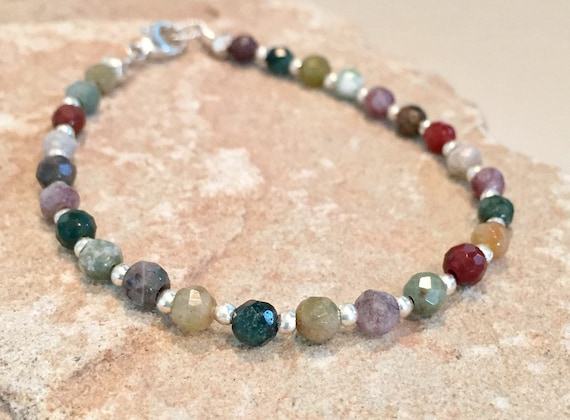 Multicolored bracelet, colorful bracelet, jasper bracelet, Hill Tribe silver bracelet, sundance bracelet, gemstone bracelet, boho chic