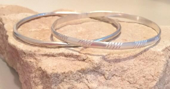 Sterling silver bangle bracelets, pattern bangle bracelet, stackable sterling silver bracelets, silver bangle, silver bracelet, gift for her