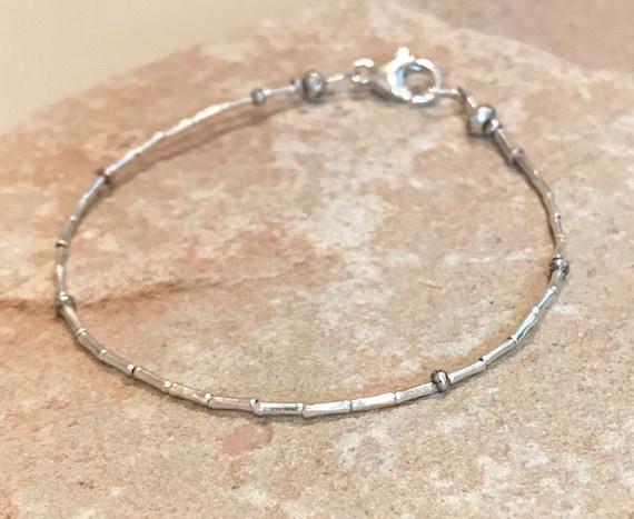Silver bracelet, dainty bracelet, small bracelet, sterling silver bracelet, sundance bracelet, gift for her, gift for wife, boho chic