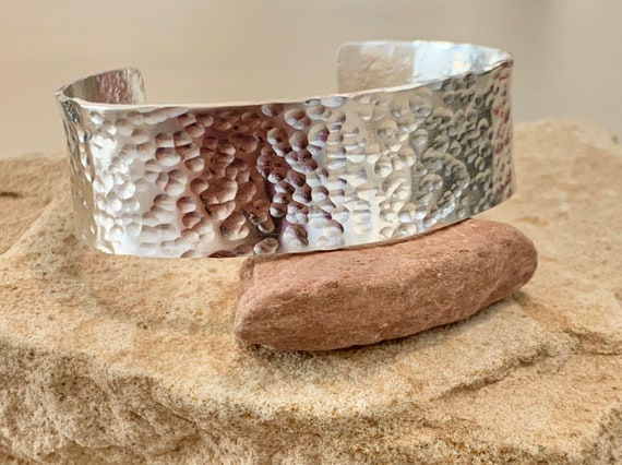 Hammered sterling silver cuff bracelet, cuff bracelet, hammered sterling silver bracelet, sterling silver bangle, hammered bangle bracelet
