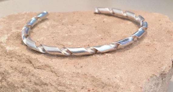 Sterling silver cuff bracelet, twisted cuff bracelet, stackable sterling silver bracelet, stackable bracelet, sterling silver bracelet, cuff