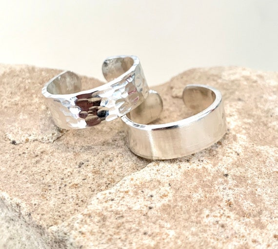 Sterling silver ring, sterling silver adjustable ring, hammered silver ring, everyday ring, gift for her, sterling silver band, boho ring