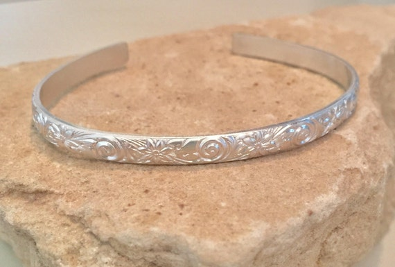 Sterling silver cuff bracelet, pattern cuff bracelet, stackable sterling silver bracelet, sterling silver cuff, everyday bracelet