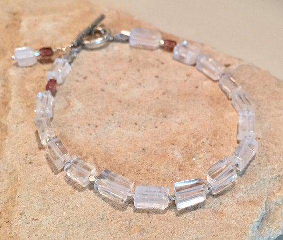 Crystal bracelet, quartz bracelet, tourmaline bracelet, Hill Tribe bracelet, charm bracelet, gemstone bracelet, sundance bracelet, boho chic