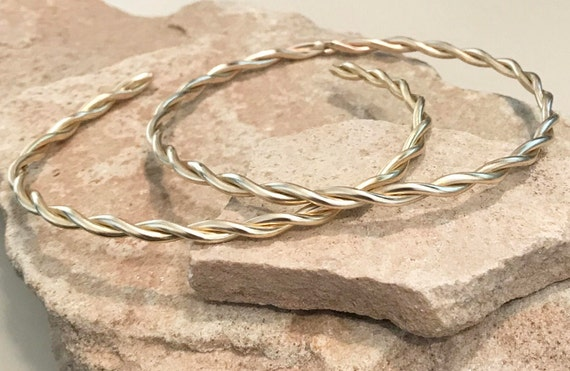 Twisted brass bangle bracelets, twisted round bangle bracelet, stackable brass bracelets, brass bracelets, bangles, gift for her, boho chic