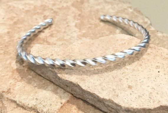 Sterling silver cuff bracelet, twisted cuff bracelet, stackable sterling silver bracelet, stackable bangle, silver bracelet, gift for her