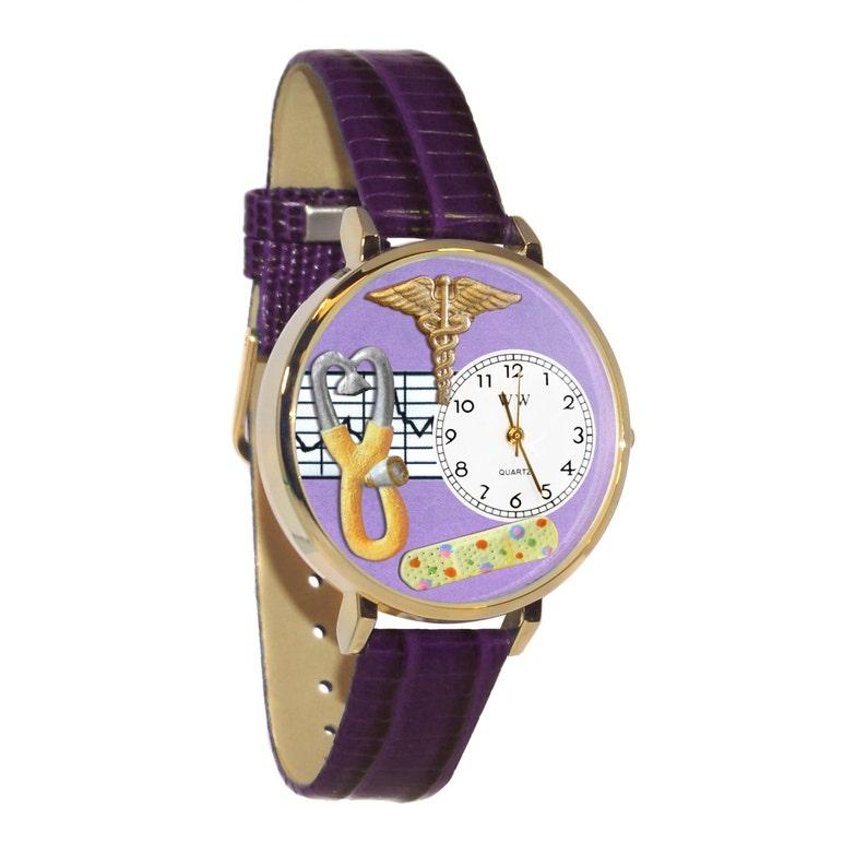fbf14c567c2f Whimsical enfermera 2 reloj mano de la mujer pintada-Multi