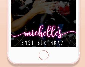Birthday Snapchat Filter, Birthday Snapchat Geofilter, Custom Girl's Birthday Party Snapchat Filter, Bday Geofilter, Bday Party Filter