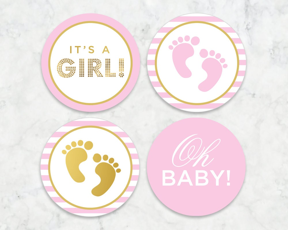 It\'s a Girl Printable Tags Labels Cupcake Toppers // | Etsy