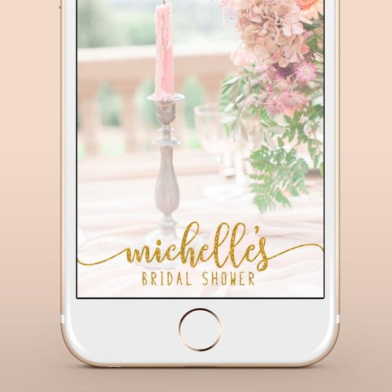 bridal shower snapchat geofilter custom bridal shower | etsy