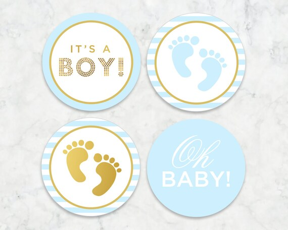 it s a boy printable tags labels cupcake toppers baby etsy