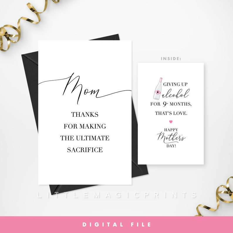 picture about Printable Funny Mothers Day Cards identify Printable Humorous Moms Working day Card, Electronic Document, Humorous Mother Card, Printable Wine, Rose, Alcoholic beverages Moms Working day Card, Do-it-yourself Moms Working day Card