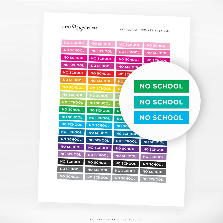 printable no school planner stickers printable erin condren | etsy