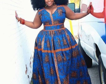 African plus size prom dress African plus size outfit Plus size print dress for women African women dress Plus size wedding dress