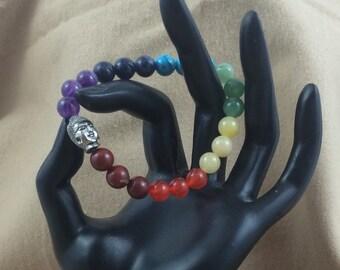 Handcrafted jewelry, Stretch layering bracelets, chakra bracelet, Buddha bracelet