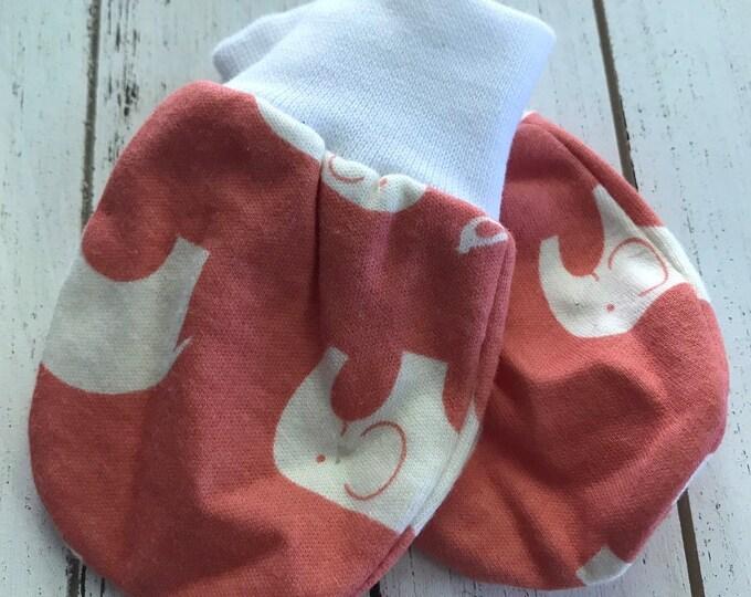 Baby mittens - Organic - Newborn scratch mittens - Baby Scratch Mittens