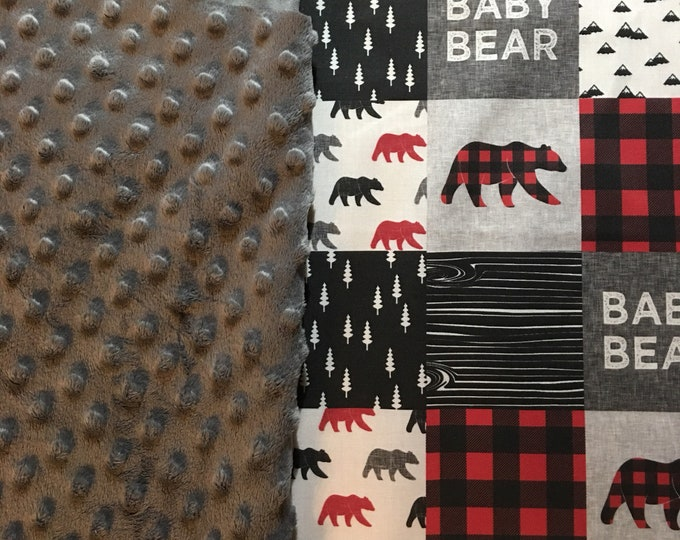RESERVED  - Bear blanket - standard size crib sheet - pillow