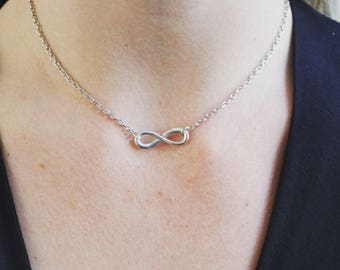 ON SALE! Silver Infinity choker.