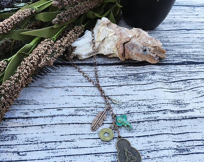 ON SALE! Handcrafted jewelry, Boho pendant necklace