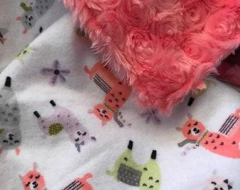 Baby Blanket - llama blanket - minky blanket