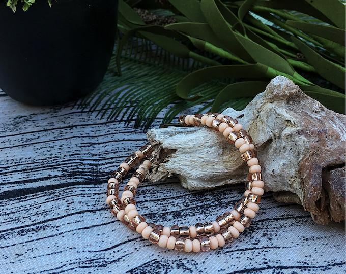 Handcrafted jewelry, 2 strand layering bracelet