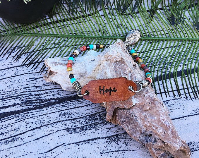 Handcrafted jewelry, Hope layering bracelet