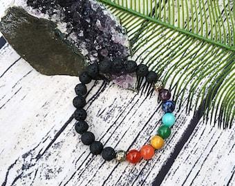 Handcrafted jewelry, Chakra bracelet, diffuser bracelet, Meditation bracelet