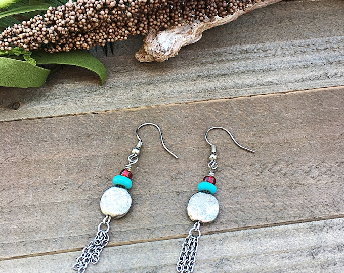 Handcrafted jewelry, Southwest inspired earrings