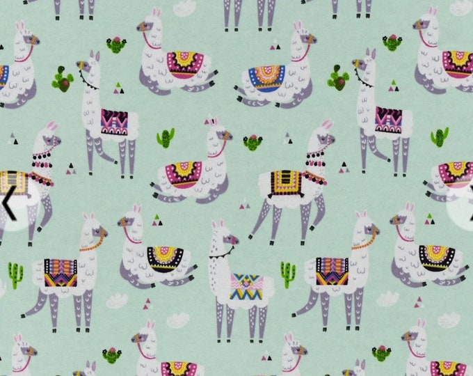 Fitted Crib Sheet - Fitted Pack n Play Sheet - Fitted Mini Crib Sheet Llama baby sheets