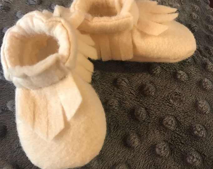 Baby & Toddler items, Felt Baby Moccasins, Felt Moccasin