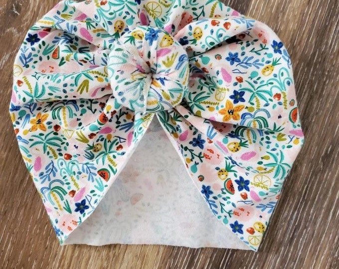 Knotted baby turban size 6-9 months