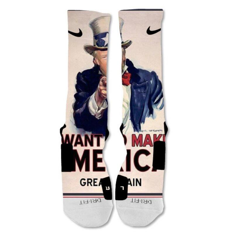 new style 888bf 3bea6 Personalizzato calze Nike Elite Donald Trump America noi   Etsy