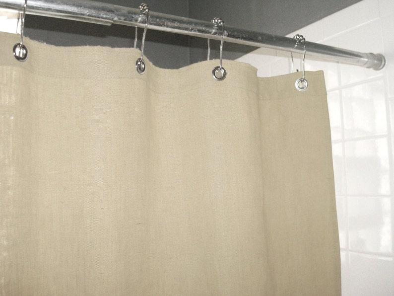 Natural Ecru Shower Curtain Made In USA