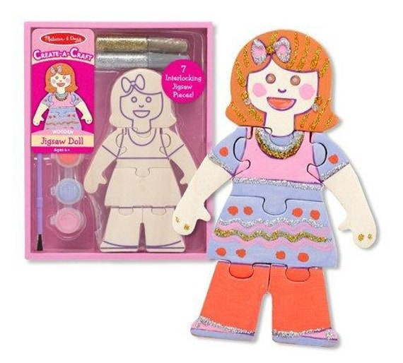 Create-A-Craft Wooden Jigsaw Doll Kit Melissa and Doug
