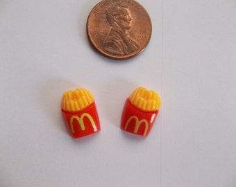 Summer Fun Fast Food Kawaii French Fries Earrings